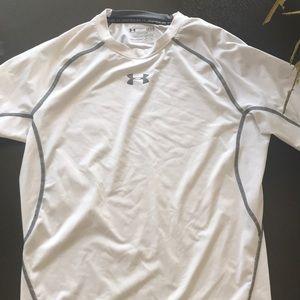 Under Armour large white athletic shirt